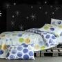 Parure housse de couette Constellation 2 personnes 200 x 200 cm + 2 taies