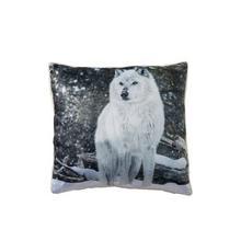 Coussin Loup des neiges