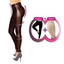 Legging remodelant d'aspect cuir COMFORTISSE