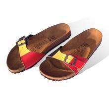 Sandales pour dames aux couleurs belges BIRKI'S