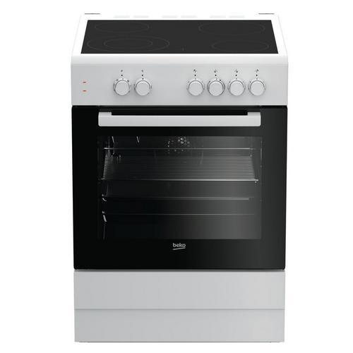 Vitrokeramisch fornuis met oven BEKO FSM67010GW