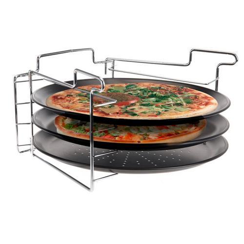 Set de cuisson pour 3 pizzas