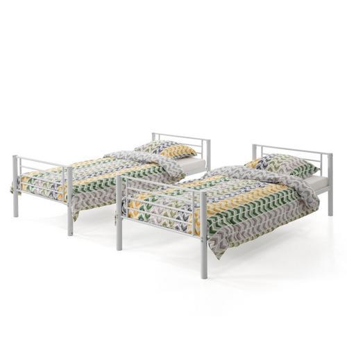Stapelbed + 2 bodems + 2 matrassen