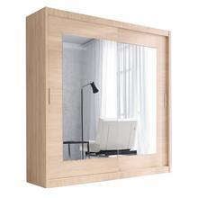 Garde-robe à 2 portes-miroirs coulissantes