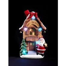 Scène de Noël avec figurine de Noël