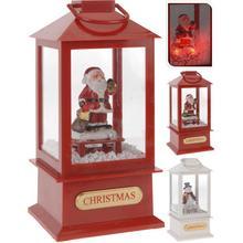 Lanterne avec figurine de Noël