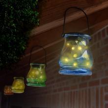 Set van 2 solarlampen in glazen pot