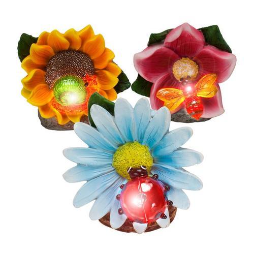 Set décoratif 3 pièces à éclairage solaire