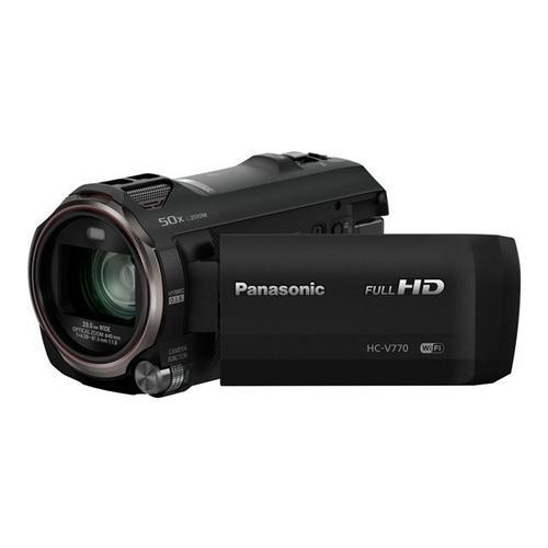 PANASONIC HC-V770 - Camcorder 1080p / 50 beelden per seconde 12.76 MP 20x optische zoom flash-kaart Wi-Fi, NFC zwart