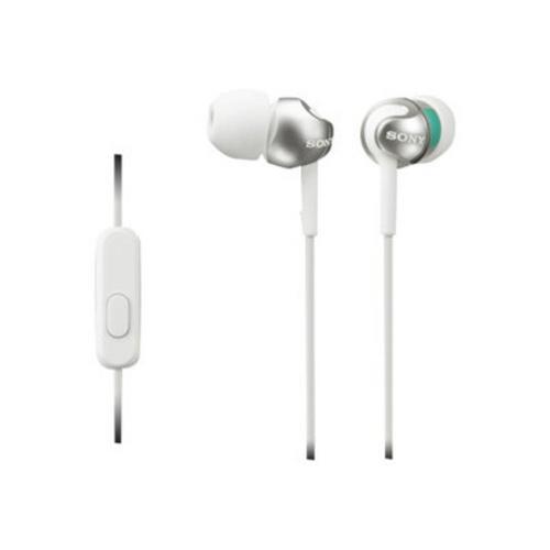 SONY MDR-EX110AP - In-ear hoofdtelefoons met micro inwendig bekabeling 3,5 mm-stekker wit
