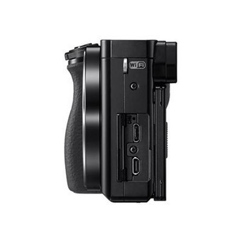 SONY a6000 ILCE-6000L - Appareil photo numérique sans miroir 24.3 MP APS-C 3x zoom optique objectif 16-50 mm Wi-Fi, NFC noir