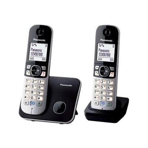 PANASONIC KX-TG6812 - Téléphone sans fil avec ID d'appelant DECT\GAP noir + combiné supplémentaire