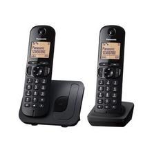 PANASONIC KX-TGC212BLB - Snoerloze telefoon met nummerherkenning/wachtstand DECT\GAP 3-weg geschikt voor oproepen zwart + extra handset