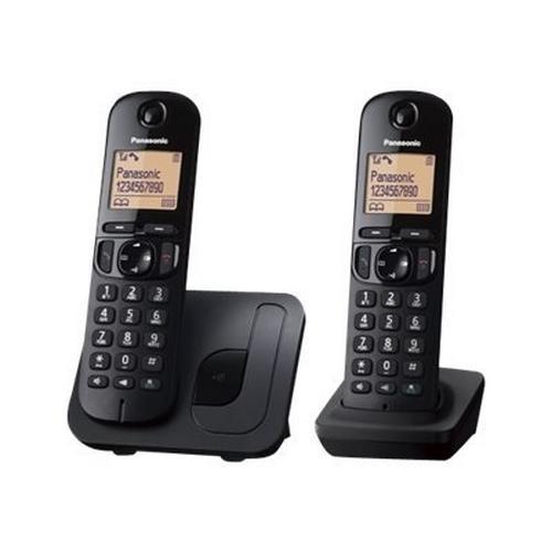 PANASONIC KX-TGC212BLB - Téléphone sans fil avec ID d'appelant/appel en instance DECT\GAP (conférence) à trois capacité d'appel noir + combiné supplémentaire
