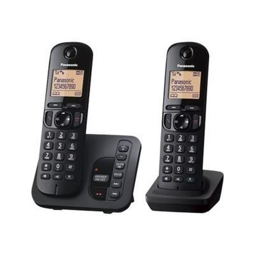 PANASONIC KX-TGC222BLB - Téléphone sans fil système de répondeur avec ID d'appelant/appel en instance DECT\GAP (conférence) à trois capacité d'appel noir + combiné supplémentaire