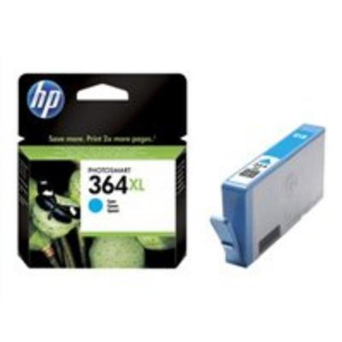 HP 364XL - 6 ml à rendement élevé cyan originale cartouche d'encre pour Deskjet 35XX; Photosmart 55XX, 55XX B111, 65XX, 65XX B211, 7510 C311, B110, Wireless B110