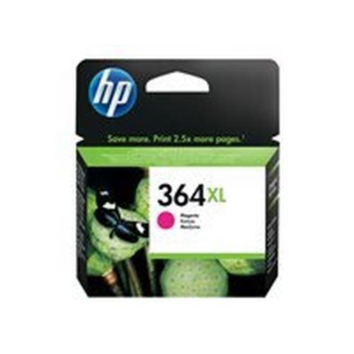 HP 364XL - 6 ml à rendement élevé magenta originale cartouche d'encre pour Deskjet 35XX; Photosmart 55XX, 55XX B111, 65XX, 65XX B211, 7510 C311, B110, Wireless B110
