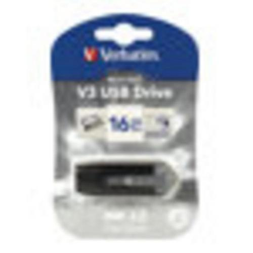 VERBATIM Store 'n' Go V3 - Clé USB 16 3.0 gris