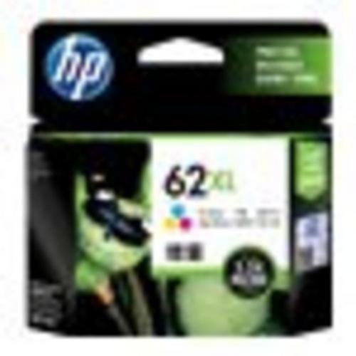 HP 62XL - À rendement élevé tricolore base de colorant originale blister cartouche d'encre pour Envy 55XX, 56XX, 76XX; Officejet 200, 250, 252, 57XX, 8040