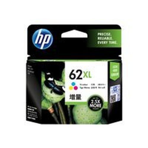 HP 62XL - Hoog rendement kleur (cyaan, magenta, geel) origineel inktcartridge voor Envy 55XX, 56XX, 76XX; Officejet 200, 250, 252, 57XX, 8040