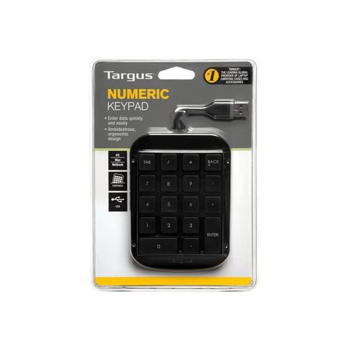 TARGUS Numeric - Pavé numérique USB gris, noir