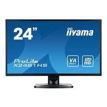 "IIYAMA ProLite X2481HS-B1 - Écran LED 24"" (23.6"" visualisable) 1920 x 1080 Full HD (1080p) VA 250 cd/m² 3000:1 6 ms HDMI, DVI-D, VGA haut-parleurs noir"