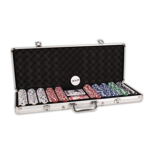Poker koffer aluminium 500 Chips