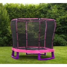 Plum  Jr Trampoline diam. 214cm Trampoline Plum 7ft junior met net roze