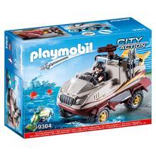 PLAYMOBIL® 9364 Véhicule amphibie et bandit de PLAYMOBIL