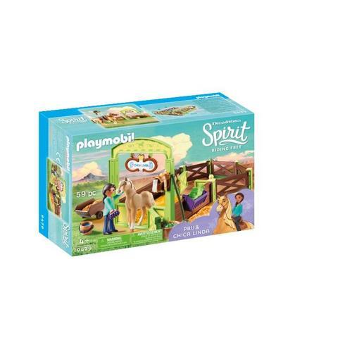 PLAYMOBIL® 9479 Pru & Chica Linda met paardenbox