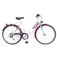 """Vélo pour enfants Spirit 20"""" blanc/mauve/fleurs"""