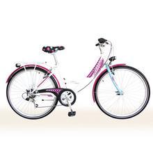"""Vélo pour enfants Spirit 24"""" blanc/mauve/fleurs"""
