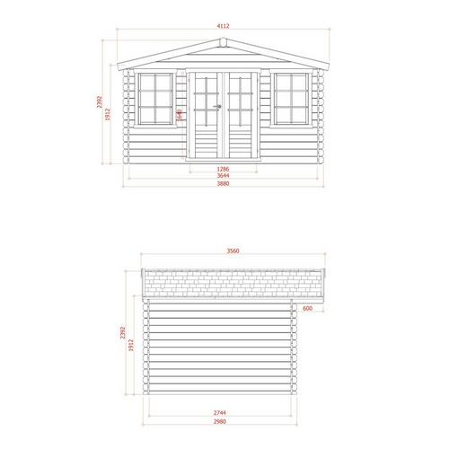 Chalet 388 x 298 cm SOLID