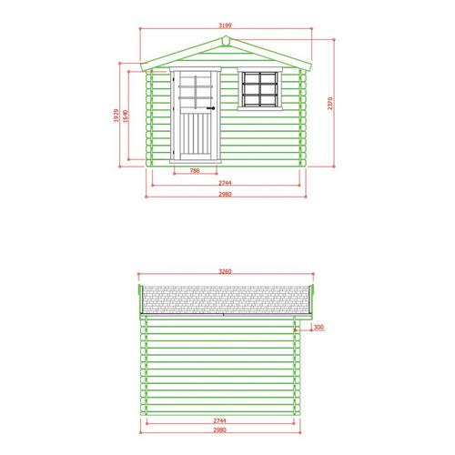 Chalet 298 x 298 cm SOLID