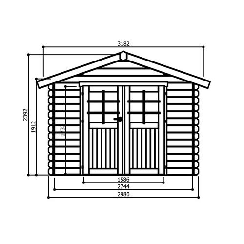 Chalet 298 x 238 cm SOLID
