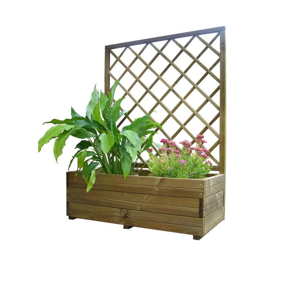 Fabriquer Treillis Bois Pour Plantes Grimpantes jardinière avec treillis solid - déco jardin - unigro.be