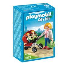 PLAYMOBIL® 5573 Maman avec jumeaux et landau de PLAYMOBIL