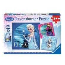 Lot de 3 puzzles La Reine des Neiges : Elsa, Anna & Olaf RAVENSBURGER