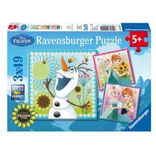 Set van 3 puzzels Disney Frozen Fever RAVENSBURGER