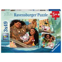 Lot de 3 puzzles Disney Vaiana RAVENSBURGER