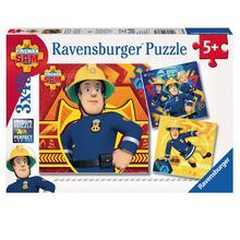 Lot de 3 puzzles Sam le Pompier RAVENSBURGER