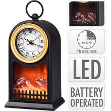 Foyer décoratif avec horloge et éclairage LED