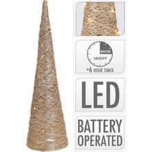 Raffia conus met led-verlichting