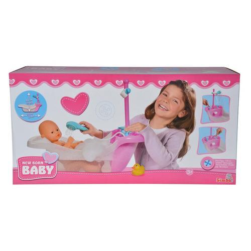 Poppenbad met douche New Born Baby SIMBA