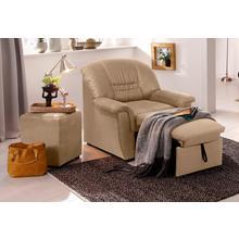 HOME AFFAIRE fauteuil de relaxation Zoe, avec repose-pieds extensible et rembourrage à ressorts