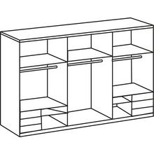FRESH TO GO armoire à portes flottantes Level, avec vitrées et ouverture synchronisée