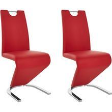 HOMEXPERTS chaise de salle à manger Zora 02, lot 2, (2 pièces) Dossier avec poignéepour une rétraction facile
