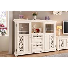 HOME AFFAIRE meuble haut Arabeske, brille par son bel aspect bois, avec des moulures décoratives sur les façades portes, largeur 160 cm