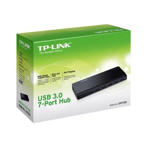 TP-LINK UH700 - Hub 7 x SuperSpeed USB 3.0 desktop