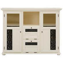 HOME AFFAIRE meuble haut Arabesk, avec de jolies moulures décoratives, nombreuses possibilités rangement, largeur 160 cm